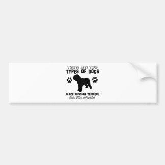 black russian terrier gift items bumper sticker