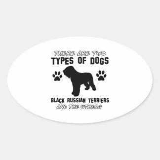 black russian terrier gift items oval sticker