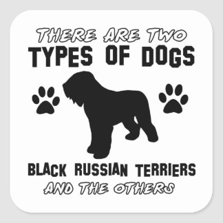 black russian terrier gift items square sticker
