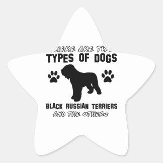 black russian terrier gift items star sticker