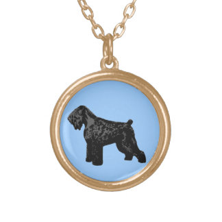 Black Russian Terrier Gold Plated Necklace