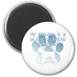 Black Russian Terrier Granddog Fridge Magnets