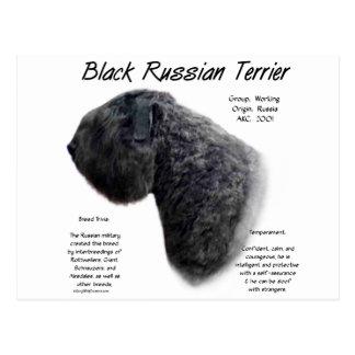 Black Russian Terrier History Design Postcards