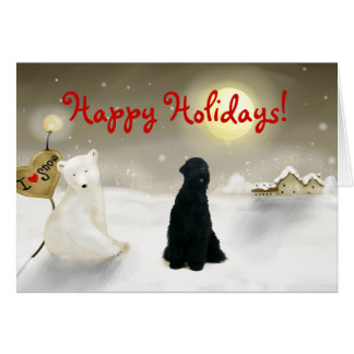 Black Russian Terrier Holiday Card