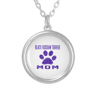 Black Russian Terrier Mom Gifts Designs Necklace