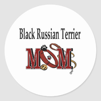 Black Russian Terrier Mom Sticker