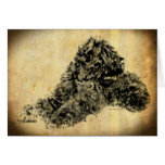 Black Russian Terrier Old Time Greeting Card