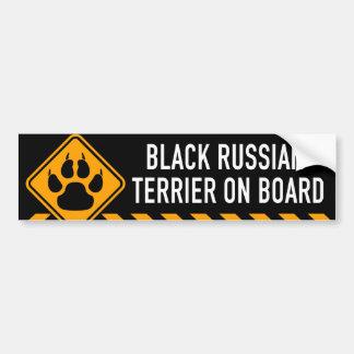 Black Russian Terrier On Board Bumper Sticker