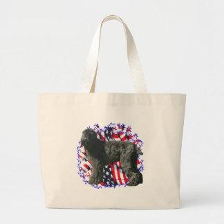 Black Russian Terrier Patriot Tote Bag