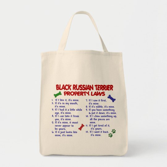 BLACK RUSSIAN TERRIER PL2 TOTE BAG