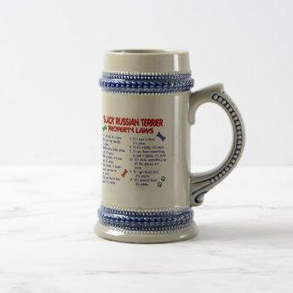 BLACK RUSSIAN TERRIER Property Laws 2 Coffee Mugs