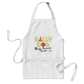 Black Russian Terrier Rally Dog Adult Apron
