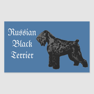 Black Russian Terrier Rectangular Sticker