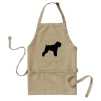Black Russian Terrier Silhouette Adult Apron