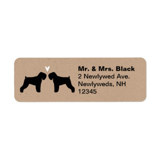 Black Russian Terrier Silhouettes with Heart Label