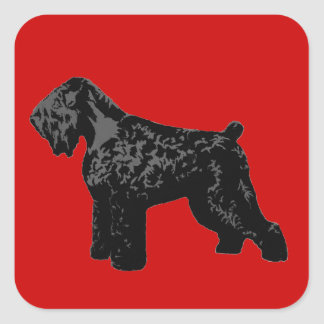 Black Russian Terrier Square Sticker
