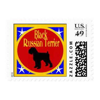 Black Russian Terrier Stamp