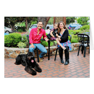 Black Russian Terrier Vader and Elroy Min Pin Card