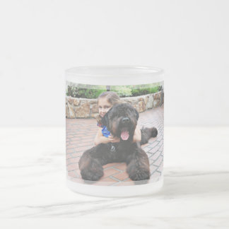 Black Russian Terrier - Vader Frosted Glass Coffee Mug