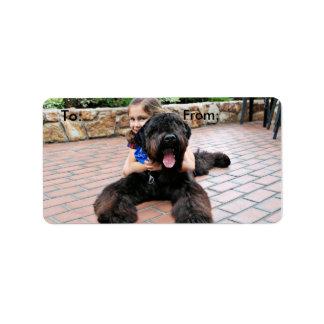 Black Russian Terrier - Vader Label