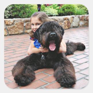 Black Russian Terrier - Vader Square Sticker