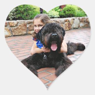 Black Russian Terrier - Vader Heart Sticker