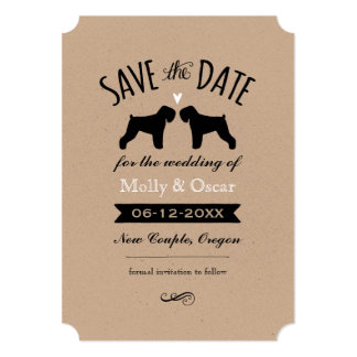 Black Russian Terriers Wedding Save the Date Card