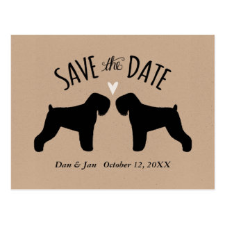 Black Russian Terriers Wedding Save the Date Postcard