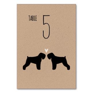 Black Russian Terriers Wedding Table Card