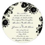 Black Rustic Romantic Navy Font Wedding Invitation