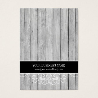 Black Rustic Wood Custom Earring Card