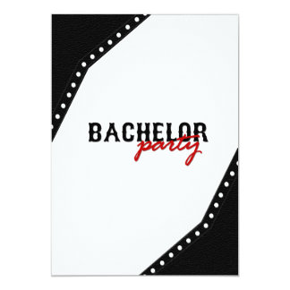 Black Saddle Style Bachelor Party Invite