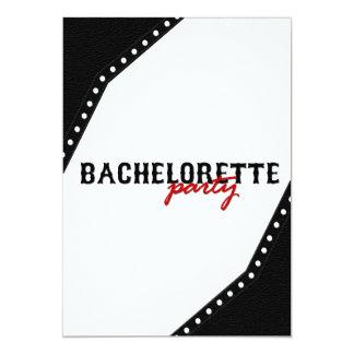 Black Saddle Style Bachelorette Party Invite