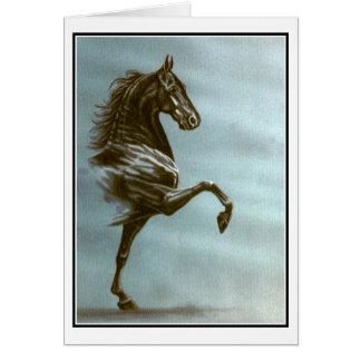 Black Saddlebred Card