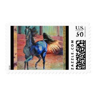 Black Saddlebred Postage Stamp