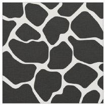 Black Safari Giraffe Fabric
