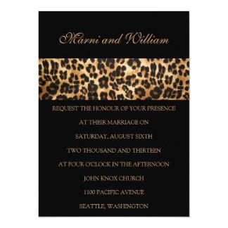 "Black Safari Wedding Invitation 5.5"" X 7.5"" Invitation Card"