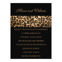 Black Safari Wedding Invitation
