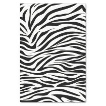 Black Safari Zebra Tissue Paper