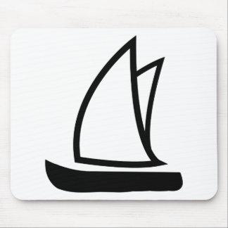 black sailing icon mouse pad