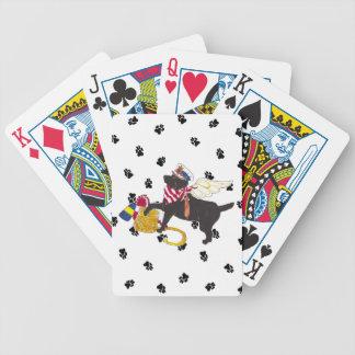 Black Sailor Lab Playing Cards