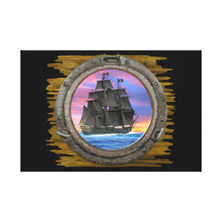 Black Sails of the 7 Seas Canvas Print
