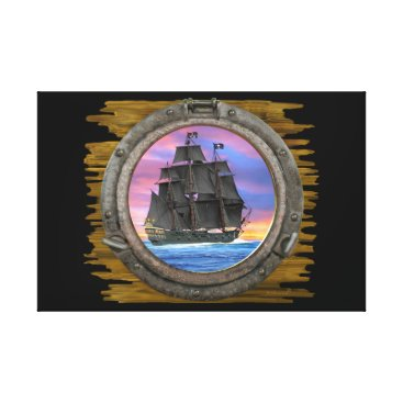 Beach Themed Black Sails of the 7 Seas Canvas Print