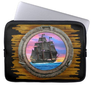 Beach Themed Black Sails of the 7 Seas Computer Sleeve