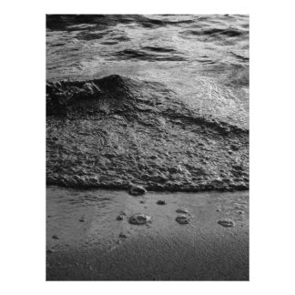 Black Sand and Surf, Pointed Wave Poster
