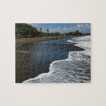 Beach Themed Black Sand beach at Waimea, Kauai, Hawaii Jigsaw Puzzle