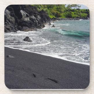 Black Sand Beach Hana, Maui Beverage Coaster