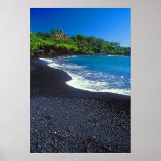 Black Sand Beach Hana Maui Poster