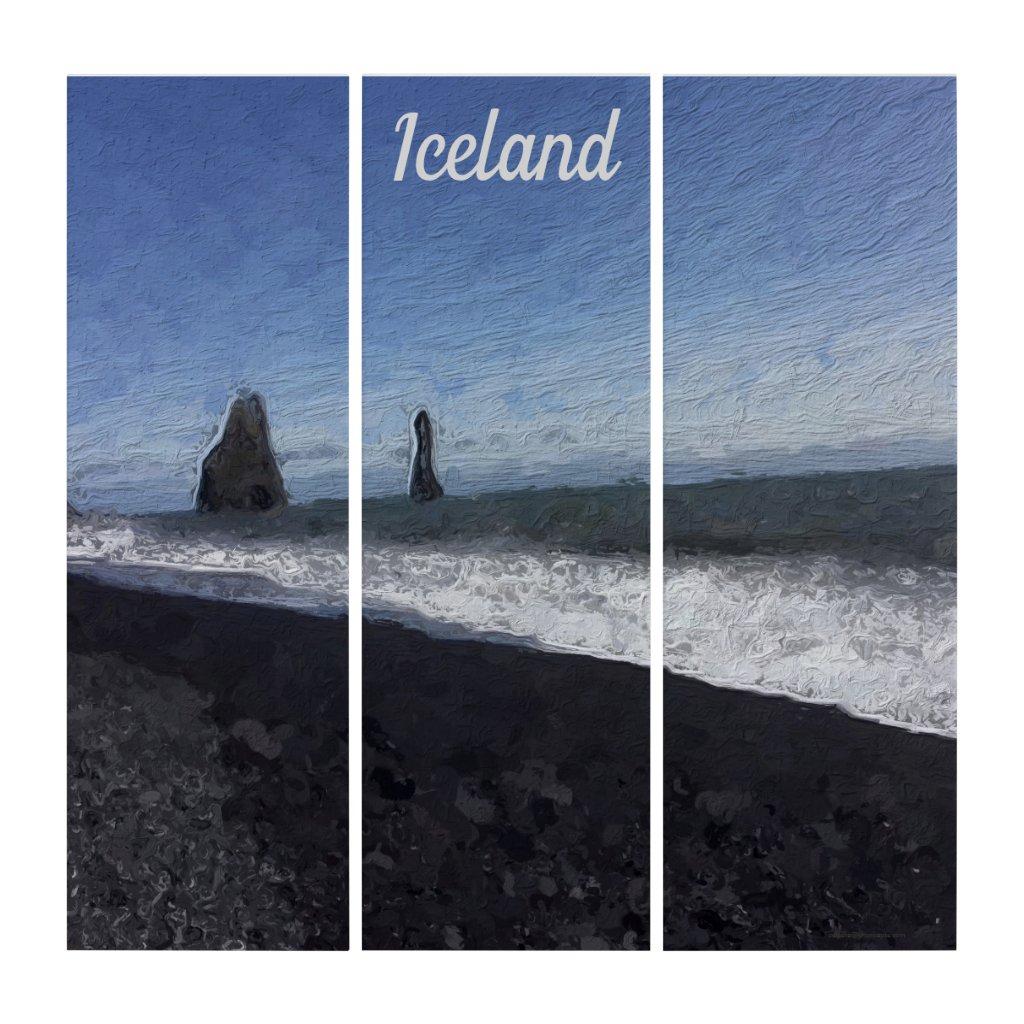 Black Sand Beach, Iceland Triptych
