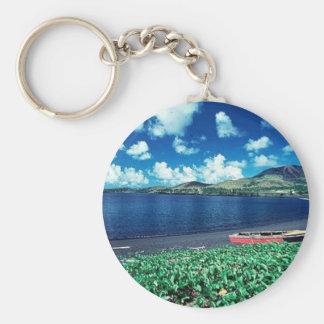 Black sand beach key chains